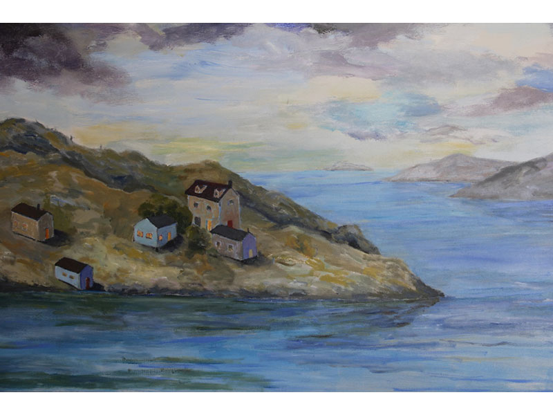 "Peninsula - acrylic 24"" x 36"" by Carmel Bouzanne"