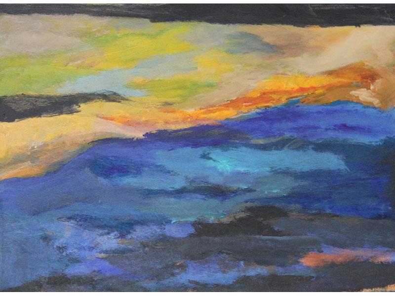 """acrylic 24"""" x 36"""" by Carmel Bouzanne"""