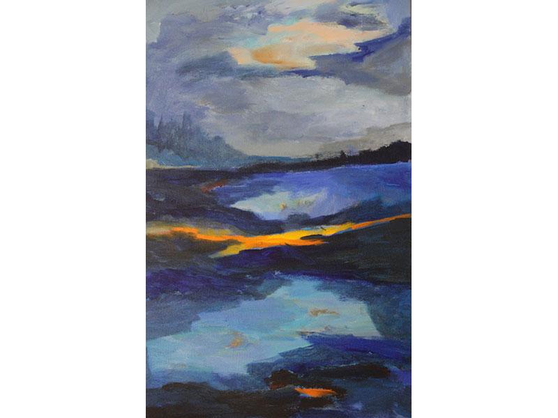 "Lost Sun - acrylic 24"" x 36"" by Carmel Bouzanne"